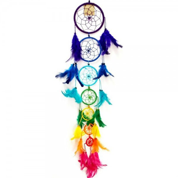 7 Çakra Renkli Dream Catcher